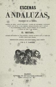 Serafín Estebánez Calderón, Escenas andaluzas